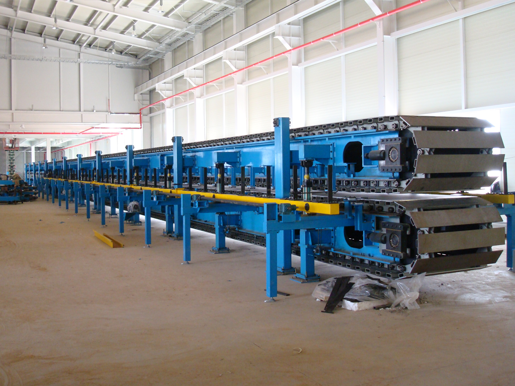Double belt slat conveyor