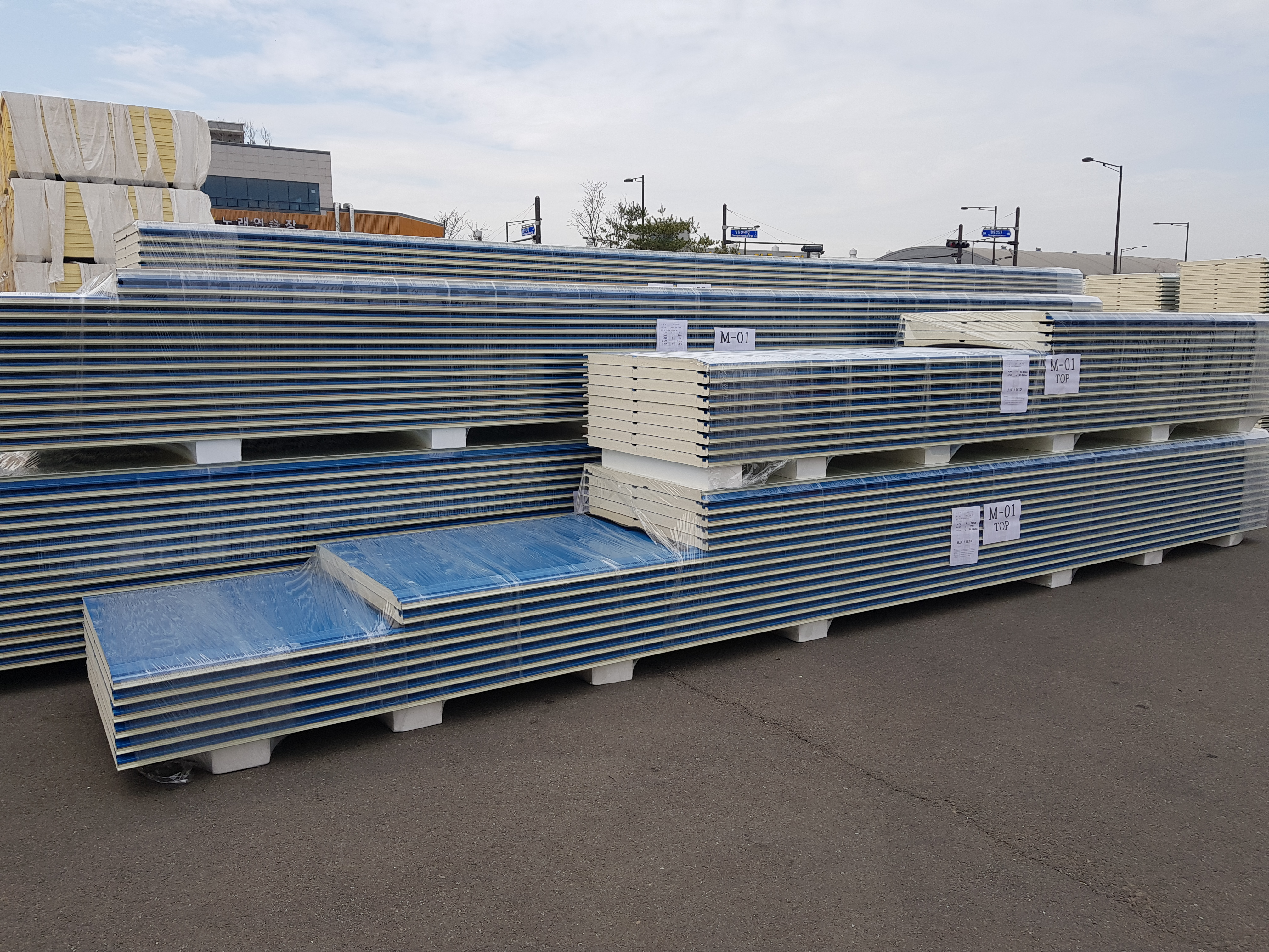 export 50mm PIR sandwich panel to Maxico