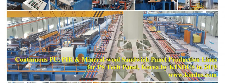 (KINDUS) Continuous PU,PIR & Mineral-wool Sandwich Panel Production Line for Korea by KINDUS in 2019[20191118]